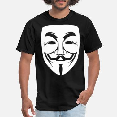 Guy Fawkes Mask GUY FAWKES Mask assange nsa spy anonymous wiki lea - Men's T-Shirt