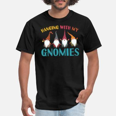 Gnome Hanging With My Gnomies I Christmas Gnomes - Men's T-Shirt