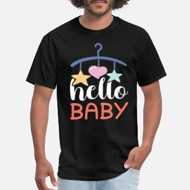 Baby Sayings Hello Baby Saying Cute Baby - Men's T-Shirt