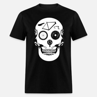 021bbbd67 Bike Part Skull Bicycle Riding Biker Men's Ringer T-Shirt | Spreadshirt