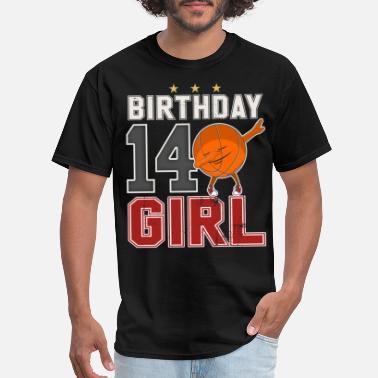Girls 14th Bday 14 Year Old Dabbing Baskteball Girl Gift