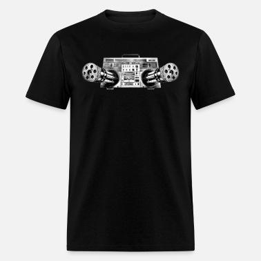 Boombox Gatling Gun Men's Jersey T-Shirt | Spreadshirt