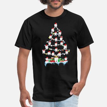 Dentist Teeth Christmas Tree Funny Dental - Men's T-Shirt