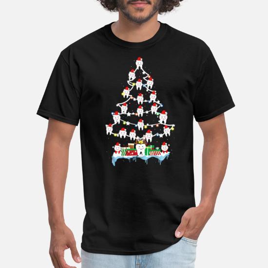36cfa9189 Dentist T-Shirts - Teeth Christmas Tree Funny Dental - Men's T-Shirt black
