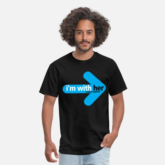 Love T-Shirts - im_with_her - Men's T-Shirt black