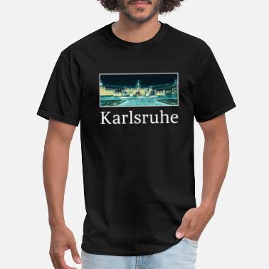 Karlsruhe Karlsruhe City Skyline Sights Silhouette - Men's T-Shirt