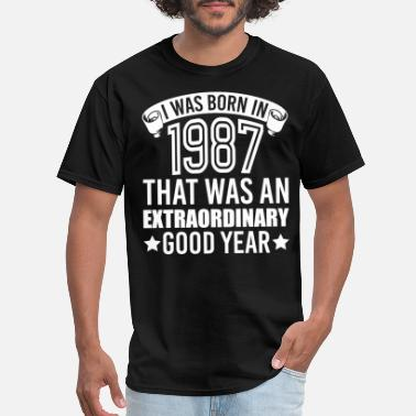 1987 Cool Sayings Born in 1987 - Men's T-Shirt