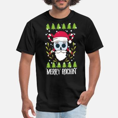Christmas Skull Christmas Skull Rocking - Men's T-Shirt