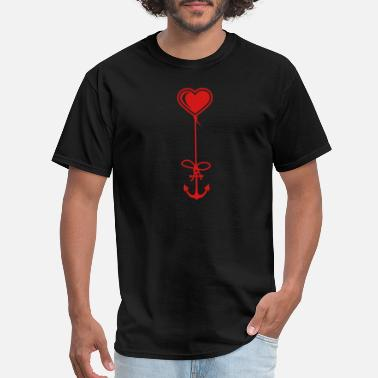 Bootcamp Bootcamp anchor sailor heart captain sailor ship boat sea f - Men's T-Shirt