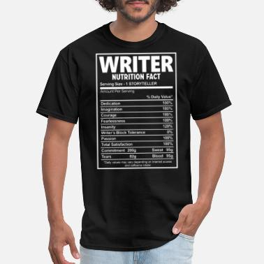 Nutrition Facts writer nutrition fact chef - Men's T-Shirt