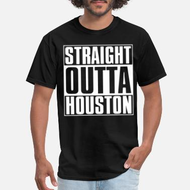 straight outta houston california t shirts - Men's T-Shirt