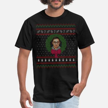 Resistance Ruth Bader Gingsburg Supreme - Merry Christmas - Men's T-Shirt