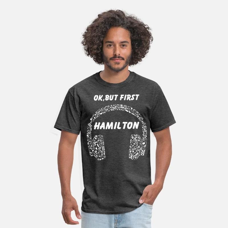 85bb17674 OK BUT FIRST HAMILTON Ear Phones dj t shirts Men's T-Shirt | Spreadshirt