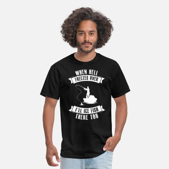 Meme T-Shirts - Ice fishing - Men's T-Shirt black