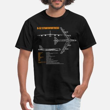 Bomber B-52 Stratofortress Specs - B-52 Bomber Airplane - Men's T-Shirt