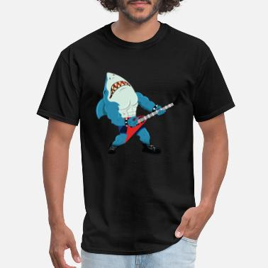 Hard Rock Rock 'n' Roll - Metal - Hard rock - Shark Guitar - Men's T-Shirt