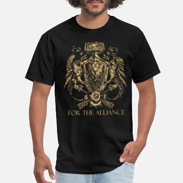 World Of Warcraft For The Alliance Symbol from World of Warcraft - Men's T-Shirt