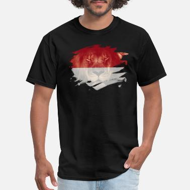 Africans Events Indonesia Flag & African Lion Picture - Men's T-Shirt