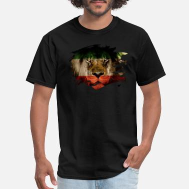Persia Persia Flag & African Lion Picture - Men's T-Shirt