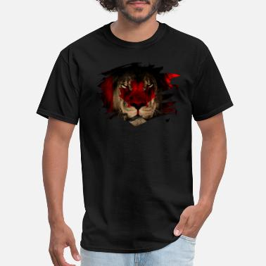 Lion Picture Canada Flag & African Lion Picture - Men's T-Shirt