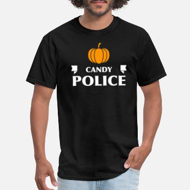 Adult Candy Candy Police Trick Or Treat Adult Kids Halloween Costume - Men's T-Shirt