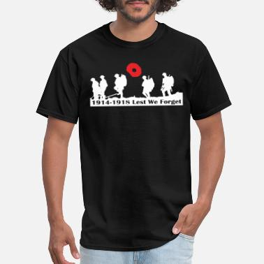 Forget REMEMBRANCE DAY LEST WE FORGET POPPY xmas birthday - Men's T-Shirt