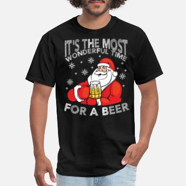 Wonderful Its The Most Wonderful Time For A Beer - Men's T-Shirt