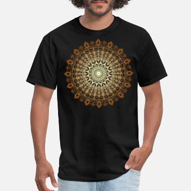 Sanskrit Spiritual Flower Mandala Circle - Men's T-Shirt