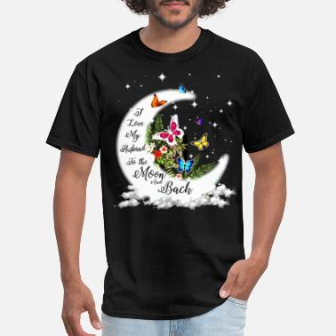 I Love You to the Moon and Back-Best Novelty Couple T-shirt Valentine/'s Day Gift
