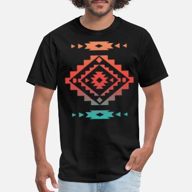Native Cool Native American Aztec Southwest Indian Style - Men's T-Shirt