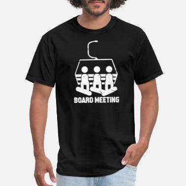 Meeting Snowboarding Board Meeting - Men's T-Shirt