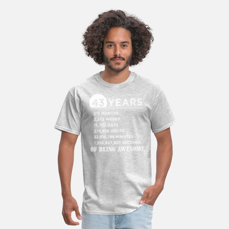 43rd Birthday Gifts 43 Years Old Of Being Awesome Mens T Shirt