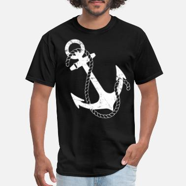 Nautical Vintage Nautical Anchor - Men's T-Shirt