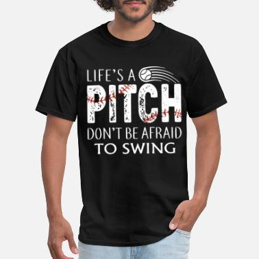 Dirty Wedding Party life is ball pitch do not be afraid to swing game - Men's T-Shirt