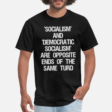 Social Democrat Anti Democratic Socialism - Men's T-Shirt