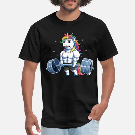 Unicorn Riding Dinosaur Wrong Park Men T-Shirt White Cotton S-6XL