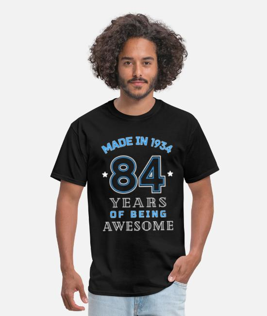 Awesome Birthday T-Shirts - 1934 Years of Awesome 84th Birthday Gift - Men's T-Shirt black