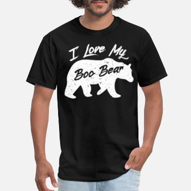 Custom Bear Boo Bear Cute Teddy Bear Polar Bear Halloween Couples Dark - Men's T-Shirt
