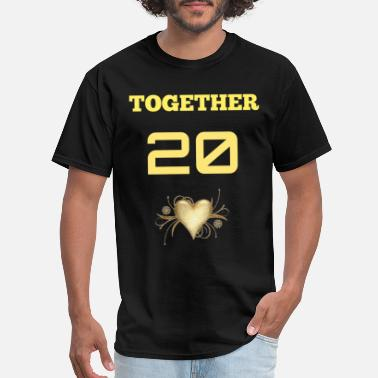 Since TOGETHER SINCE (MALE) - Men's T-Shirt