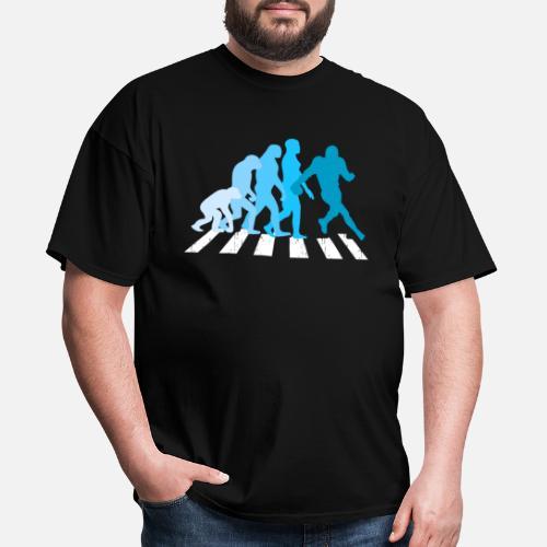 5e2fc4d2 Football Evolution Rugby Coach Fan Darwin Fun Gift Men's T-Shirt ...