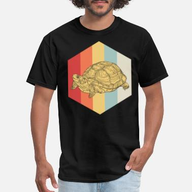 Polygonal Animal Polygon Turtle gift animal swim sea tank - Men's T-Shirt