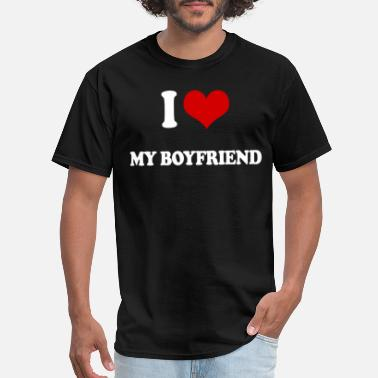 I Heart My Football Boyfriend I LOVE MY BOYFRIEND ROMANTIC LOVING heart VALENTIN - Men's T-Shirt