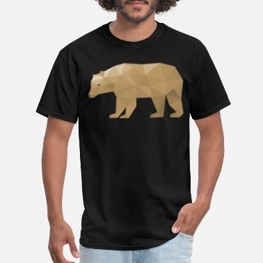 Gay Recycle Gay Bear Pride LGBT Geometric Bear - Men's T-Shirt