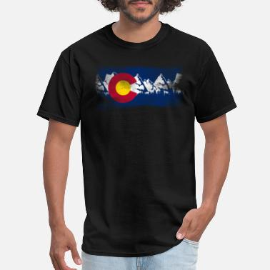Colorado Vintage Colorado State Flag Colorado Mountains - Men's T-Shirt