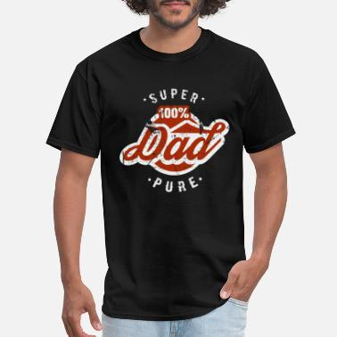 Father And Son Superman 100% Pure Super Dad father gift idea funny present - Men's T-Shirt