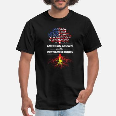 Proud Vietnamese Roots American Grown with Vietnamese Roots - Men's T-Shirt