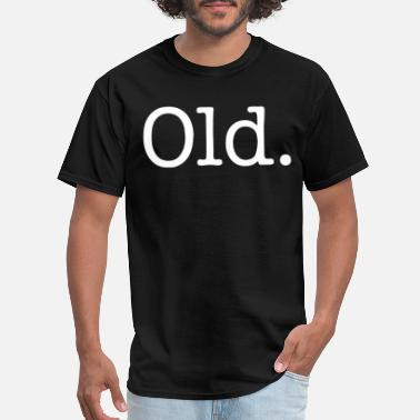 Over The Hill OLD over the hill happy small hipster birthday - Men's T-Shirt