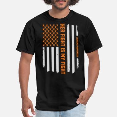 f42407252d Leukemia Leukemia Awareness Ribbon American Flag T-Shirt - Men's T