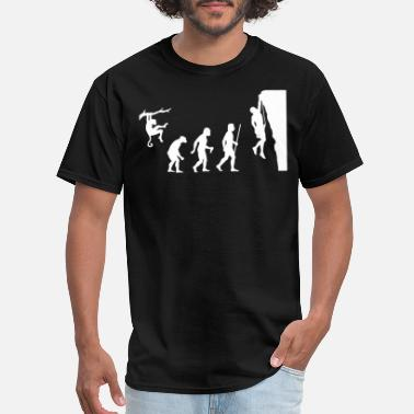 Climbing Evolution Rock Climbing - Men's T-Shirt