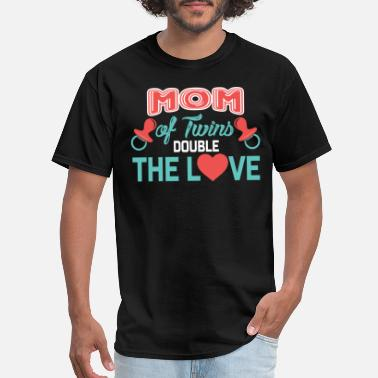 Double Twins Mom Of Twins Hoodie, Double The Love Twins Shirt - Men's T-Shirt